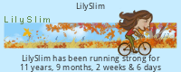LilySlim Exercise days tickers